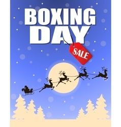 Vintage boxing day design vector