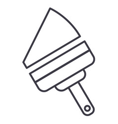 window cleaning device line icon sign vector image