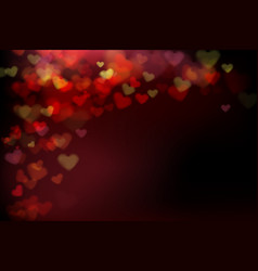 002 blur heart on dark abstract background vector