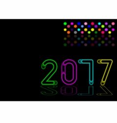 New year 2017 light effect vector