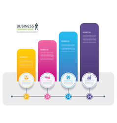 Infographic 4 tab design and marketing template vector