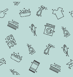 Laundry concept icons pattern vector
