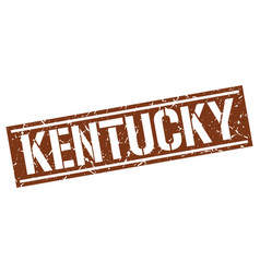 Kentucky brown square stamp vector