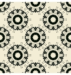 Tile print seamless of black stylized flowers or vector