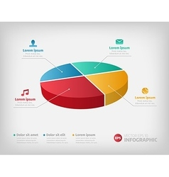 Simple pie chart graphic for business design or vector