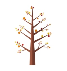 Summer tree flat icon vector