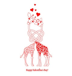 Two lovers giraffe vector