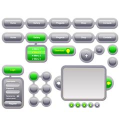 navigation template vector image