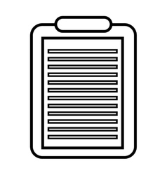 Clipboard isolated icon design vector