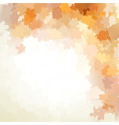 Autumn design background with colorful EPS 10 vector image vector image