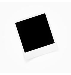Blank photo polaroid frame isolated on white vector image vector image