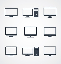 Desktop computer screen vector
