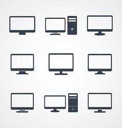 desktop computer screen vector image