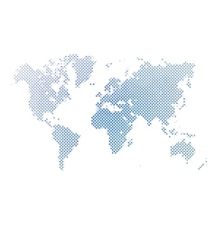 Dotted abstract map of World vector image vector image