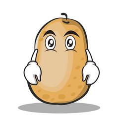 Flat face potato character cartoon style vector