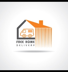 Free Home Delivery concept for increase the sell s vector image