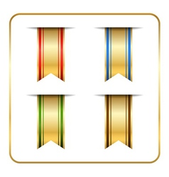 Gold colored bookmark vector image vector image