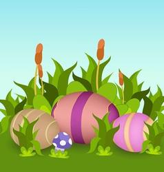 Happy easter eggs vector image vector image