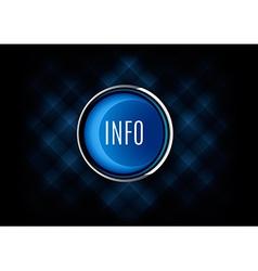 Info Button vector image vector image