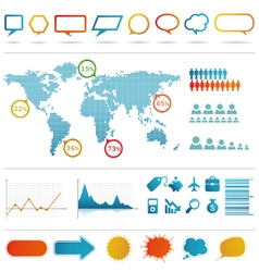 Infographics set vector image
