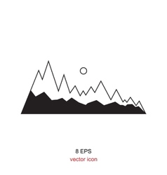 Mountain Icons Isolated vector image