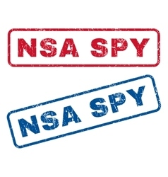 Nsa spy rubber stamps vector