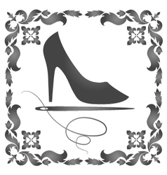 Repair of womens shoes vector