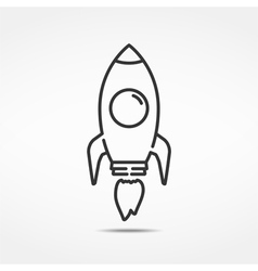 Rocket line icon vector