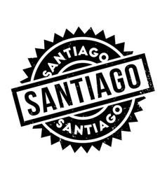 Santiago rubber stamp vector
