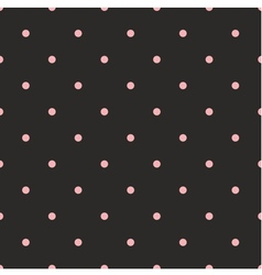 Seamless pattern with pink polka dots on black vector image vector image