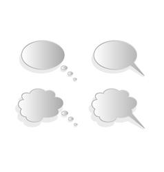 Shiny comics chat bubbles vector image vector image