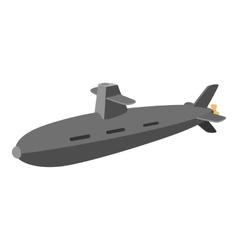 Submarine cartoon icon vector