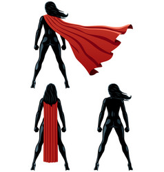 Super heroine back vector