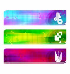 three hi tech banners vector image vector image