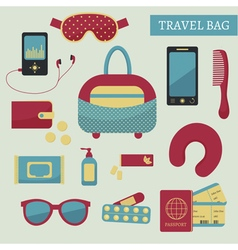 travel kit vector image