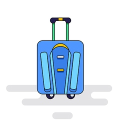 Luggage bag with wheels vector