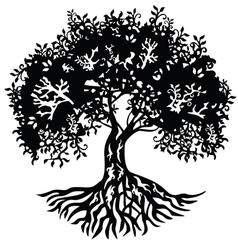 Decor silhouette tree vector