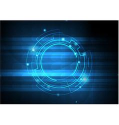 Blue template digital background vector