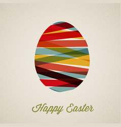 retro paper easter egg card poster vector image