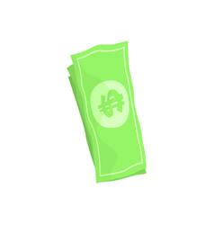 Us american dollar money bills cartoon vector