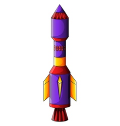 A colorful rocket vector