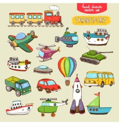 Transport toys vector