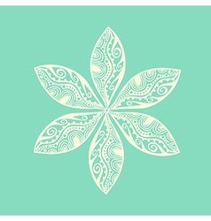 Cute ornamental flower vector