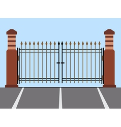 Metal gate flat vector