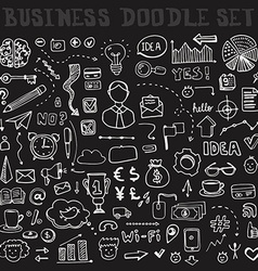 Business doodle element set vector