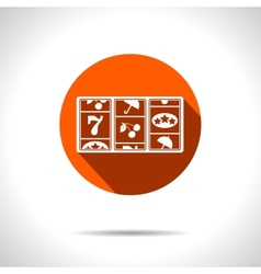 Orange slot icon eps10 vector