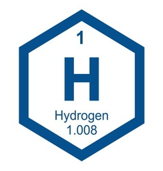 Periodic table hydogen vector