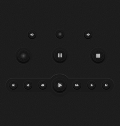 Dark web ui elements buttons vector