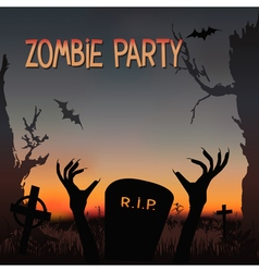 Zombie party vector