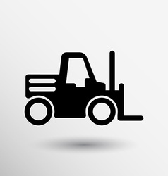 Forklift icon button logo symbol concept vector